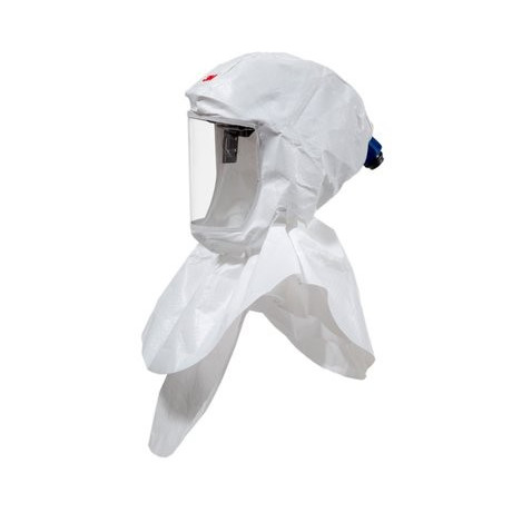 3M™ Kit inicial: capucha Serie S con arnés de gama alta, cubierta de ajuste de caudal S955 y un protector de visor.