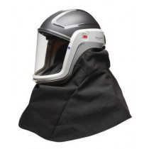 Casco de seguridad con visor de policarbonato y cubre-hombros M-400