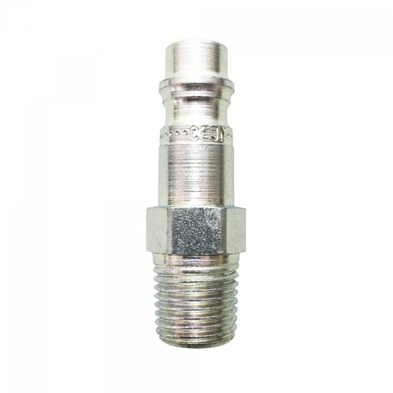 """Conector rápido para unidad de cintura - Rectus 95 macho rosca macho 1/4"""" BSP 5301253P (3 conectores)"""