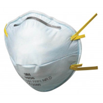 Mascarilla FFP1 NR D s/válvula para ácido fluorhídrico menor VLA 9906 (100 mascarillas)