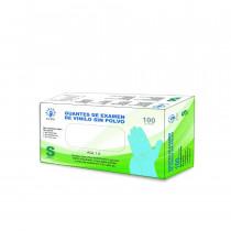 Guantes de examen de vinilo sin polvo 1000 unidades (Azul)