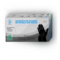 Guantes de examen de nitrilo sin polvo 1000 Unidades (Negro)