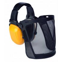 Protector auditivo Scott con arnés de cabeza + pantalla de rejilla nylon ZONE1 Z1VMCNY