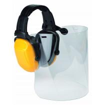 Protector auditivo Scott con arnés de cabeza + pantalla de policarbonato ZONE1 Z1VMCPC