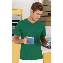 Camiseta unisex de manga corta con cuello en pico - Sun