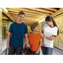 Camiseta unisex de manga corta con cuello redondo y bocamangas - Combi