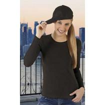 Camiseta elástica de mujer con manga larga y cuello redondo - Funky