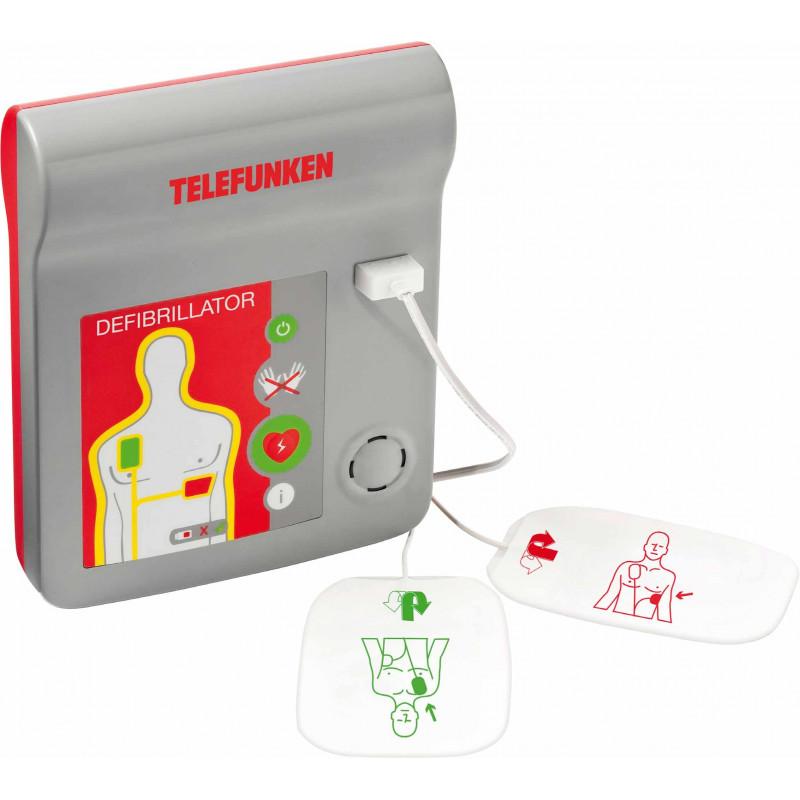 Desfibrilador Telefunken atomático HR1 - EN 60601-1:2006, EN 60601-1-4:1996, EN 60601-1:2007, EN 60601-2-4:2003 (ref. TF AED A)