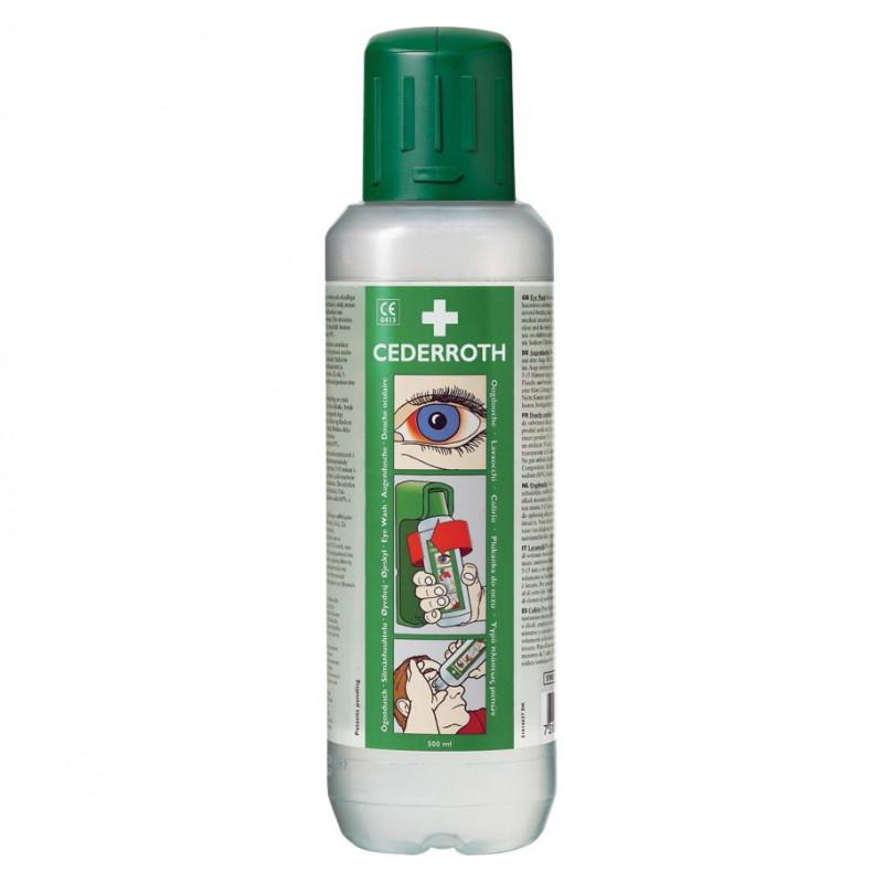 Botella lavaojos de emergencia 500 ml - Solución pH neutro para ácidos y alcalinos - A03