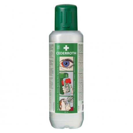 Botella emergencia lavaojos 500ml Sol. pH neutro, ácidos y alcalinos