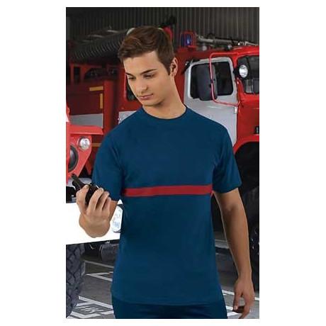 Camiseta bicolor organismos como Bomberos o Protección Civil EMERGENCY
