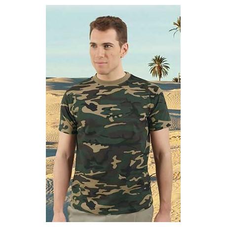 Camiseta con diseño de camuflaje militar (ref. JUNGLA)