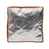 Cojin con asa para soldador, Lava Brown / Aluminizado 50 x 50 x 8 cm