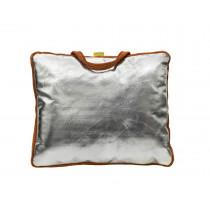 Cojin con asa para soldador, Lava Brown / Aluminizado 39 x 33 x 3 cm