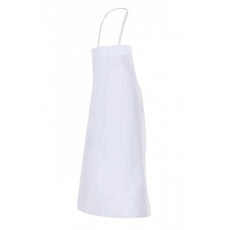 Delantal blanco con peto Serie 4S (Talla única)