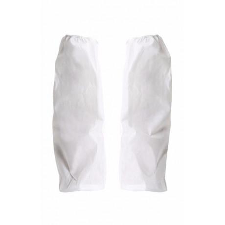 Manguitos blancos desechables Serie 74 (Talla única) 1 paq. (50 ud)