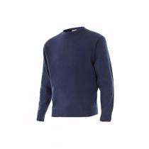 Jersey azul marino punto fino con cuello redondo Serie 105
