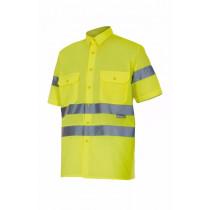 Camisa amarillo flúor manga corta alta visibilidad Serie 141