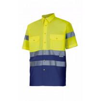 Camisa bicolor manga corta alta visibilidad Serie 142