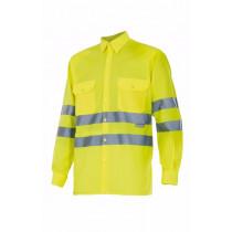 Camisa amarillo flúor manga larga alta visibilidad Serie 143