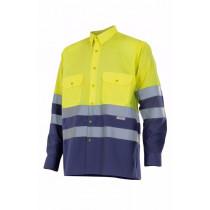 Camisa bicolor manga larga alta visibilidad Serie 144