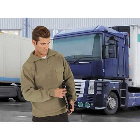 Jersey con cuello alto tipo conductor, confeccionado en tejido de punto grueso (ref. CONDUCTOR)