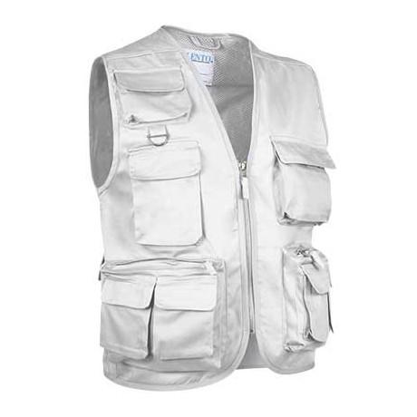 Chaleco multibolsillos confeccionado en tejido sarga, resistente y duradero (ref. EXPEDITION)