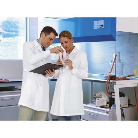 Bata laboral manga larga, ideal laboratorios o sector de alimentación