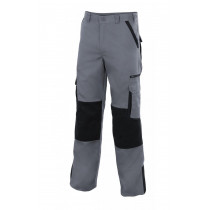 Pantalón bicolor multibolsillos con refuerzo de tejido Serie PLOMO