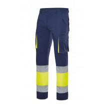 Pantalón stretch bicolor multibolsillos alta visibilidad Serie 303002S
