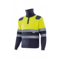 Jersey bicolor alta visibilidad con cremallera Serie 301001