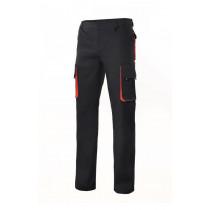 Pantalón bicolor multibolsillos con refuerzo de tejido Serie 103004