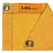 Manta de soldadura fibra de vidrio dorado 174 x 234 cm ± 550°C