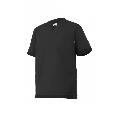 Camisola pijama negra de manga corta Serie M589