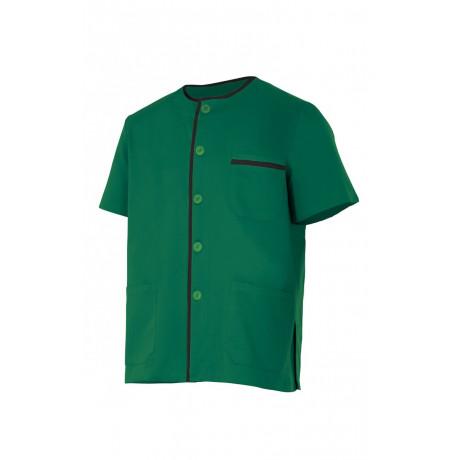 Chaqueta pijama verde de manga corta Serie P599