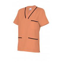Camisola pijama naranja clara de manga corta Serie B589