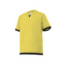 Camisola pijama amarilla clara de manga corta Serie M589