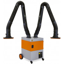 Aparato de aspiración para humos de soldadura con 2 brazos de calidad robusta con filtro de alto rendimiento (ref.PROFIMASTER02)