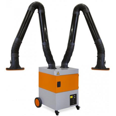 Aparato aspiración humos soldadura 2 brazos filtro de alto rendimiento