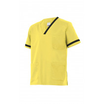 Camisola pijama amarilla clara de manga corta Serie P589