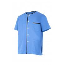 Chaqueta pijama celeste de manga corta Serie P599