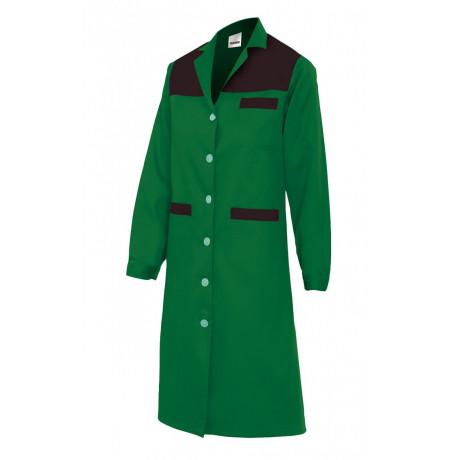 Bata verde mujer de manga larga Serie BC908