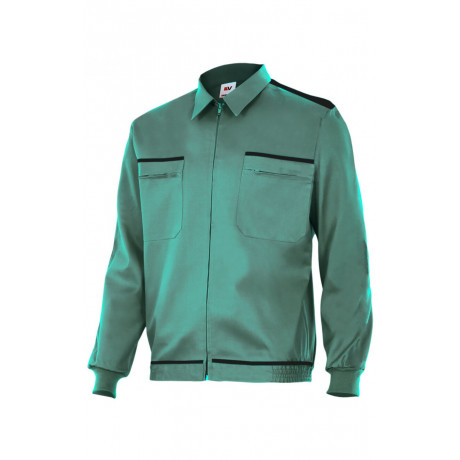Cazadora verde vertice laboral bicolor Serie BI61601
