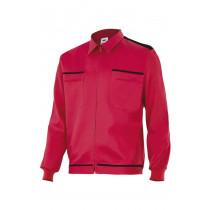 Cazadora roja vertice laboral bicolor Serie BI61601