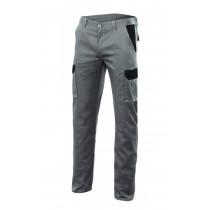 Pantalon gris stretch bicolor multibolsillos Serie PT103002S
