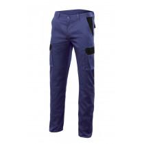 Pantalon azulina stretch bicolor multibolsillos Serie PT103002S