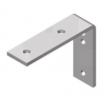 Soporte pared para rail Otubo redondo 33,7mm - Grosor 2,9mm - Cepro