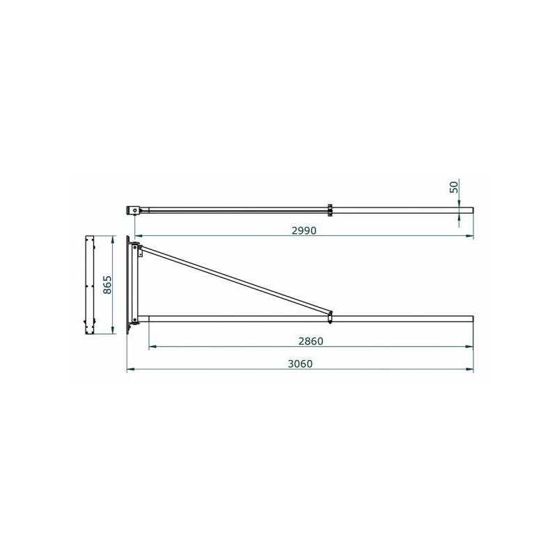 Brazo giratorio de 3m de longitud Cepro