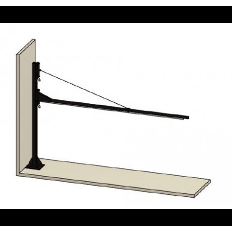 Brazo basculante para cortinas para fijar a una columna 70700650
