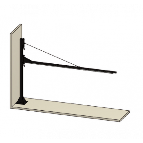 Brazo basculante para cortinas para fijar a una columna 70700655